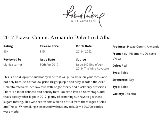 https://www.angeliniwine.com/wp-content/uploads/2019/05/2017-Piazzo-Dolcetto-dAlba-88-Pt-Rating-by-Robert-ParkerWine-Advocate.png
