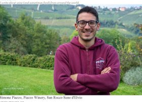 Simone Piazzo, Piazzo Winery, San Rocco Seno d'Elvio PHOTO ©TOM HYLAND